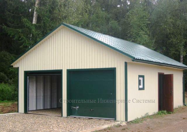 Как построить каркасный гараж без фундамента