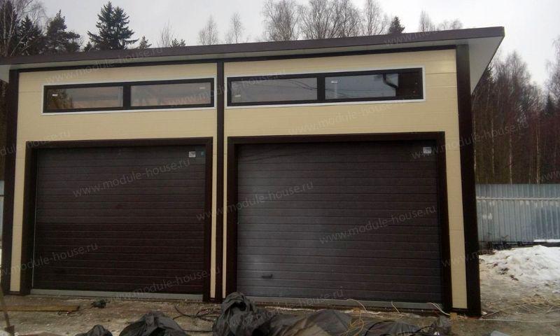 Распашные ворота из сэндвич панелей для гаража