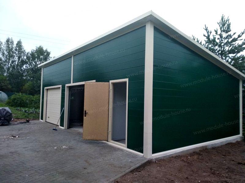 Купить готовый металлический гараж